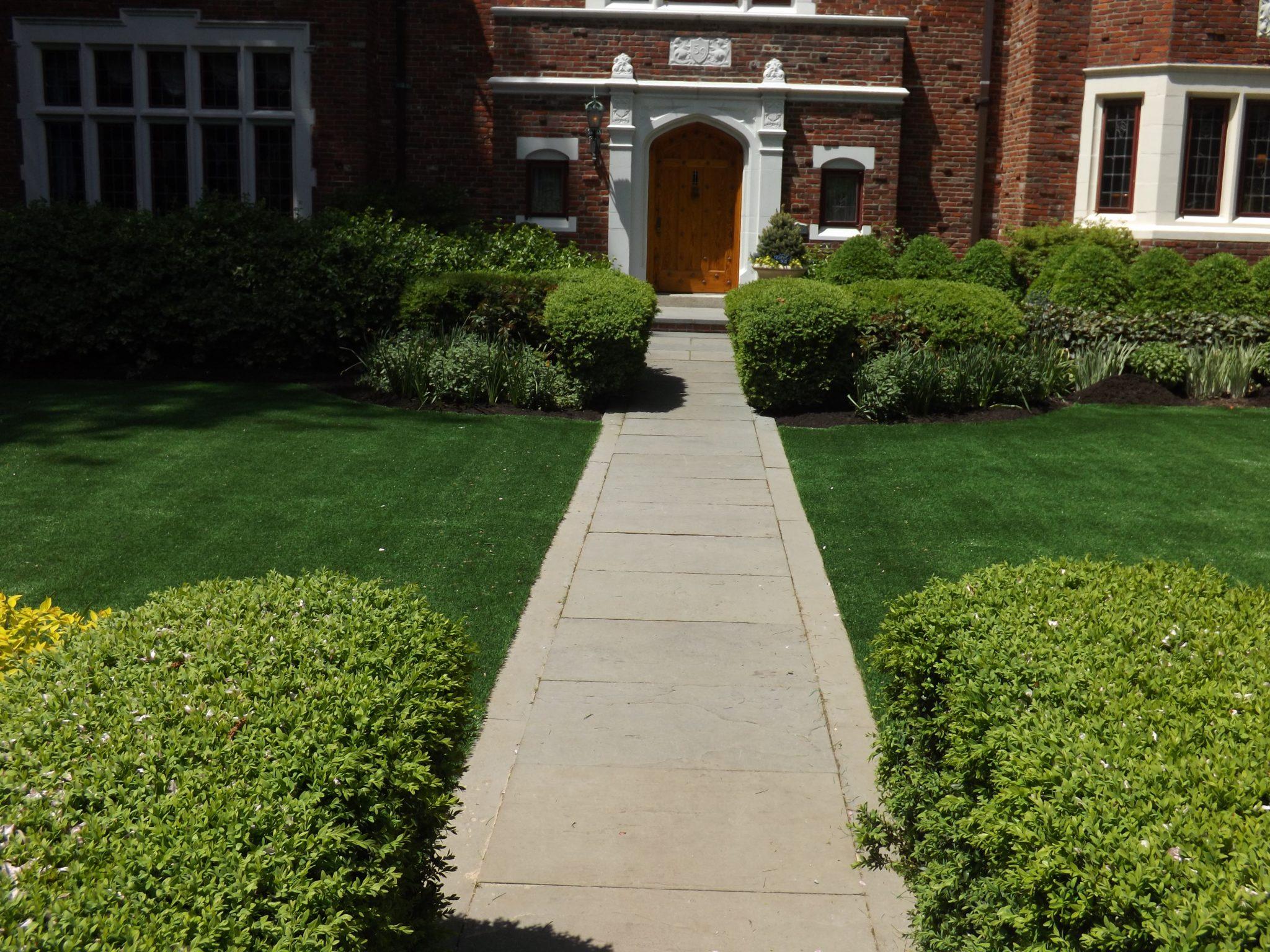 Beautiful maintenance free turf lawn