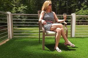 Maintenance-free backyard