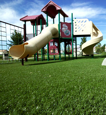 A perfect solution for under and around your kids jungle gym or play area