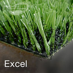This is our excel line of synthetic turf for sports surfaces