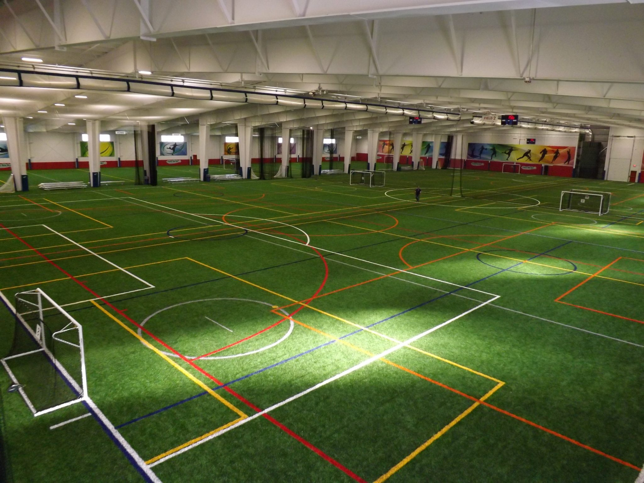 indoor turf at Forekicks in Tautnton