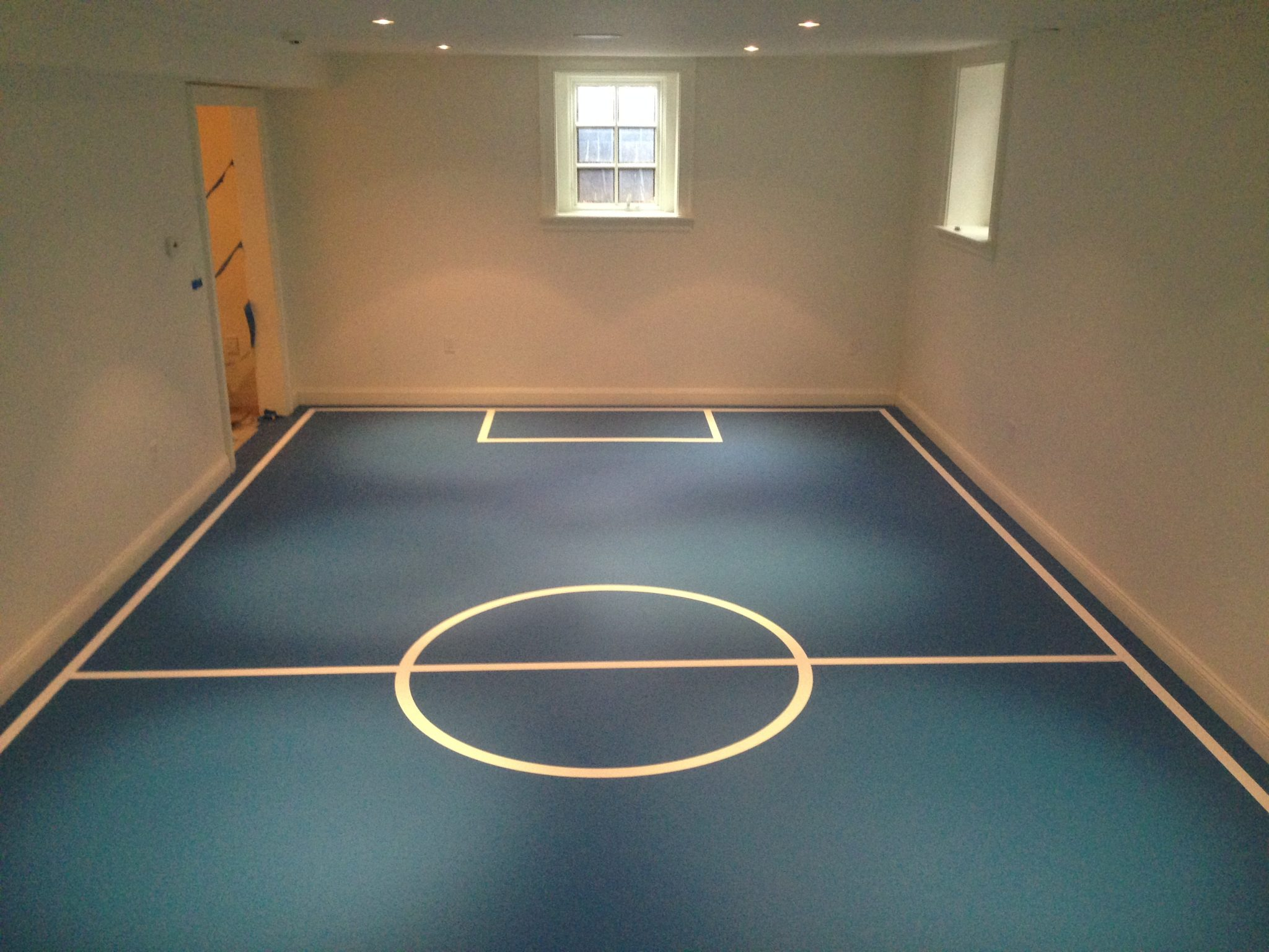 Turf home basketball court